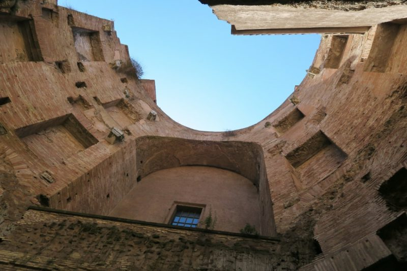 Courtyard Wall Basilica Saint Mary of the Angels and Martyrs Rome Italy