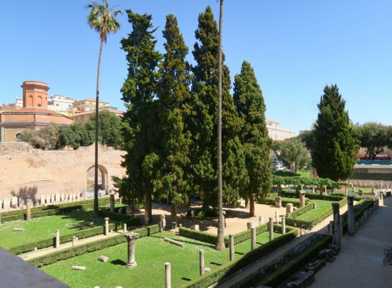 Entrance Garden Baths of Diocletian Rome Italy