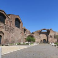 Exterior Baths of Diocletian Rome Italy