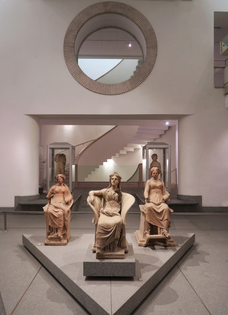 Female Statues Baths of Diocletian Rome Italy