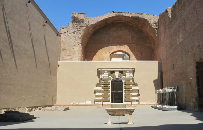 Gateway of Villa Panzoni Natatio Baths of Diocletian Rome Italy