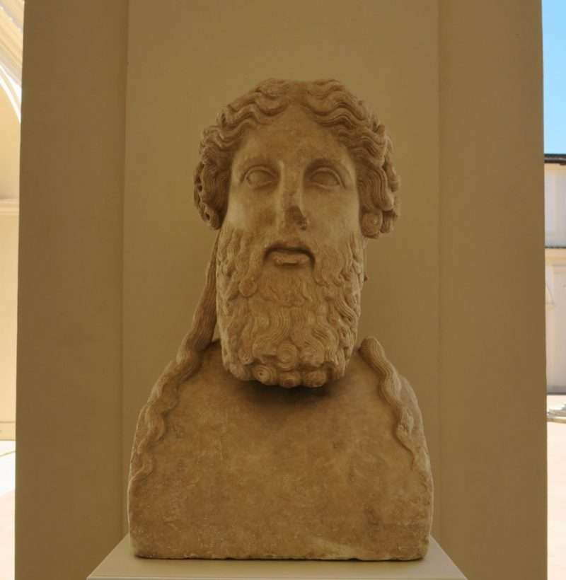 Herm of Bearded Divinity Baths of Diocletian Rome Italy