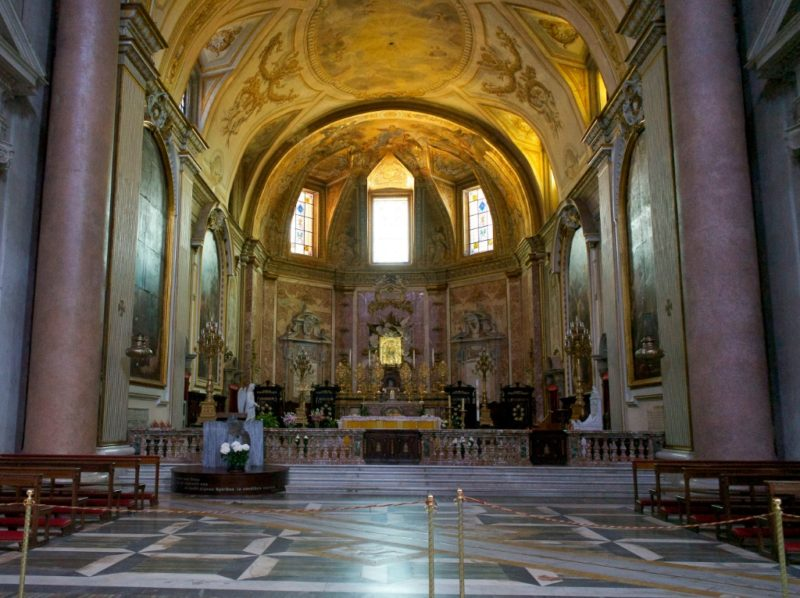 High Altar and Apse Basilica Saint Mary of the Angels and Martyrs Rome Italy