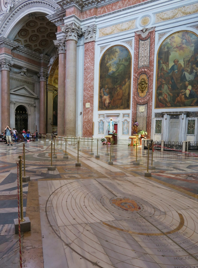 Meridian Line Basilica Saint Mary of the Angels and Martyrs Rome Italy