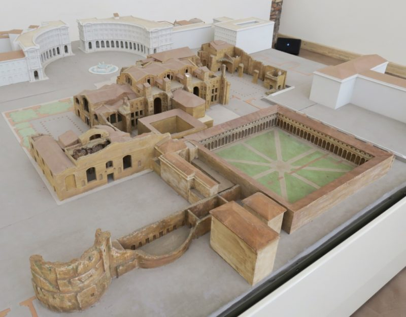 Model of Baths of Diocletian Rome Italy