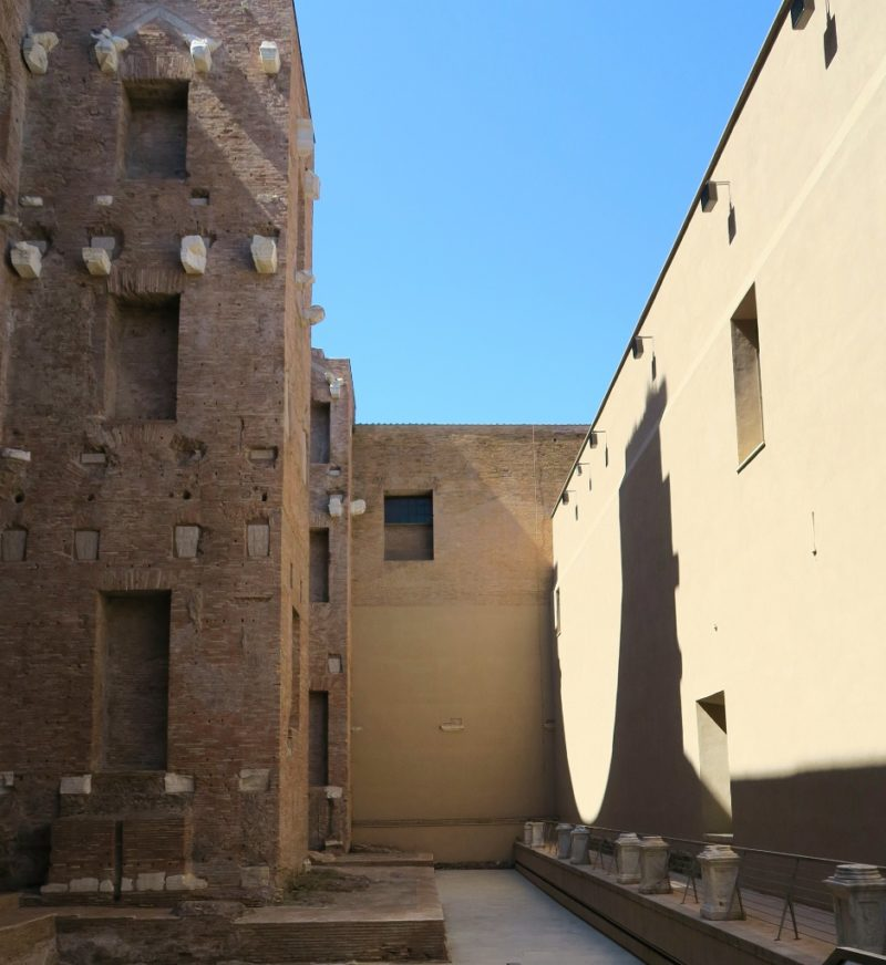Natatio Facade Baths of Diocletian Rome Italy