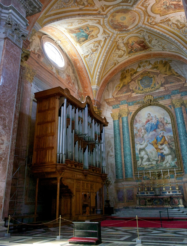 Pipe Organ Basilica Saint Mary of the Angels and Martyrs Rome Italy