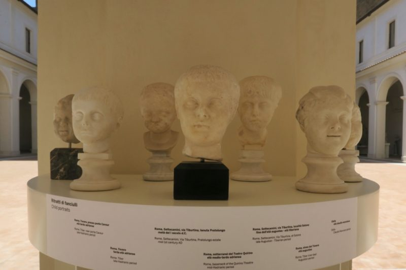 Portraits of Children Baths of Diocletian Rome Italy