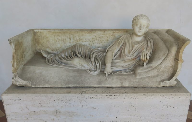 Reclining Child Baths of Diocletian Rome Italy