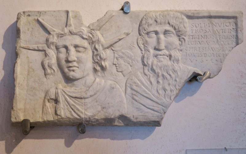 Relief Honoring Sol Invictus Baths of Diocletian Rome Italy