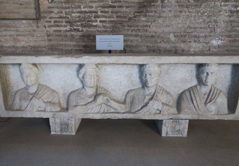 Sarcophagus with Four Figures Baths of Diocletian Rome Italy