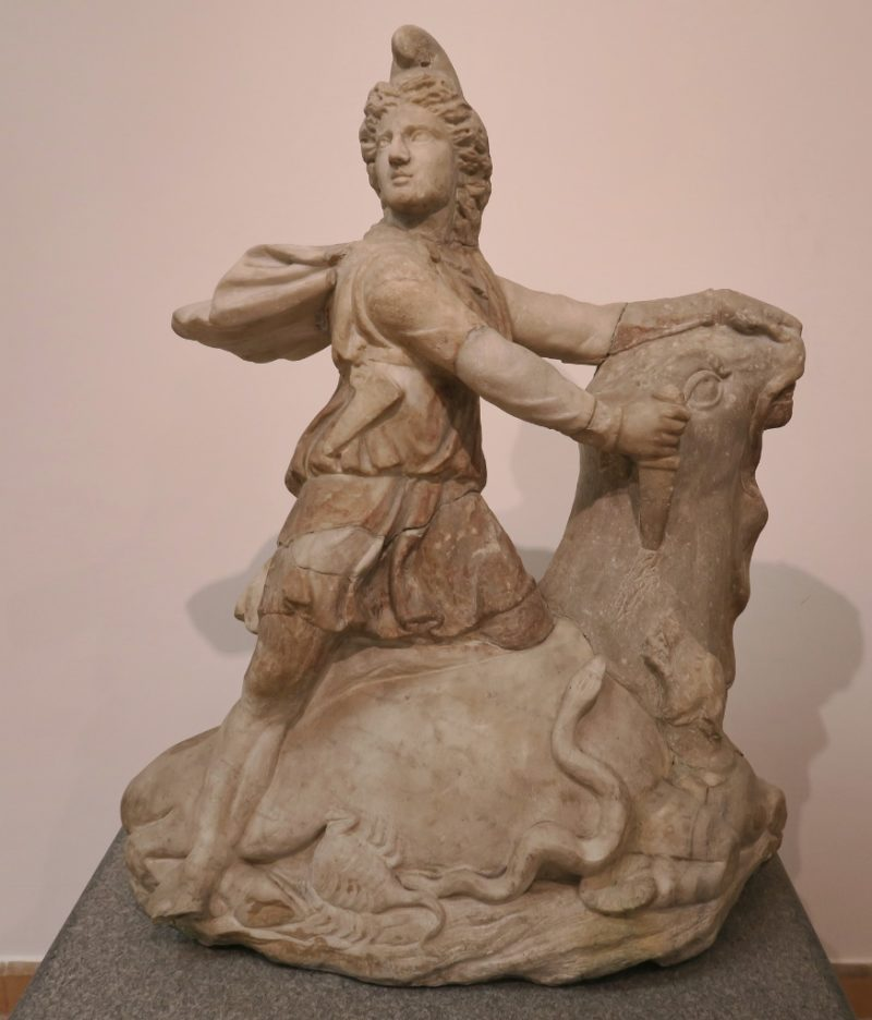Statue of Mithras with Bull Baths of Diocletian Rome Italy