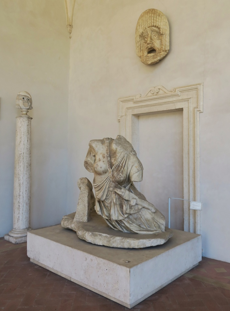 Statue of Penthesilea and Achilles Baths of Diocletian Rome Italy