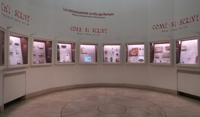 Written Communication Exhibit Baths of Diocletian Rome Italy