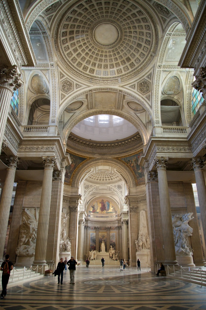 Interior Arches and Domes The Panthéon Paris France ...