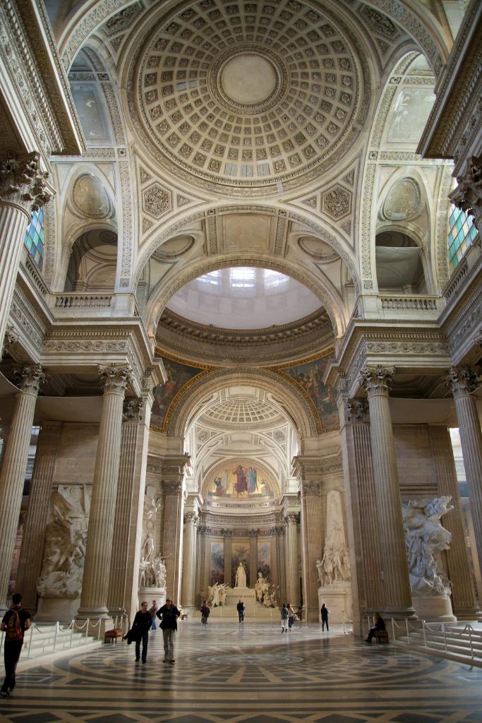 Interior Arches and Domes The Panthéon Paris France ...