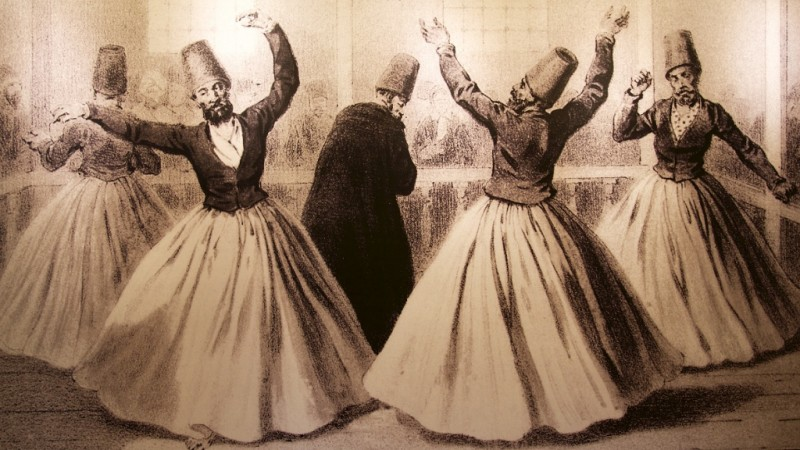 Image of Whirling Dervishes Whirling Dervish Museum Istanbul ...